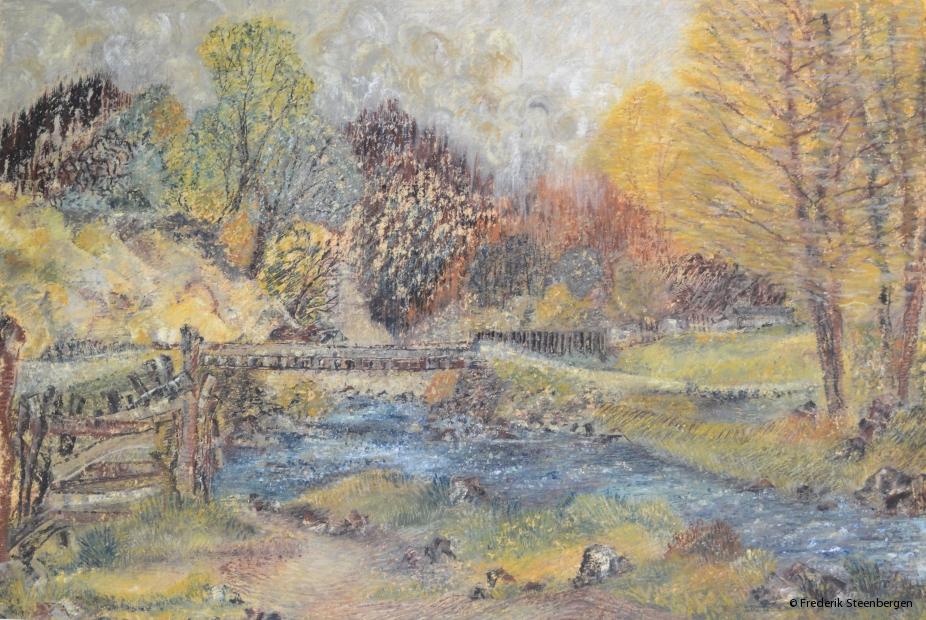 """ Nature around Serbysi ""   46x31 cm  *   oil-pastel on paper -   2008"