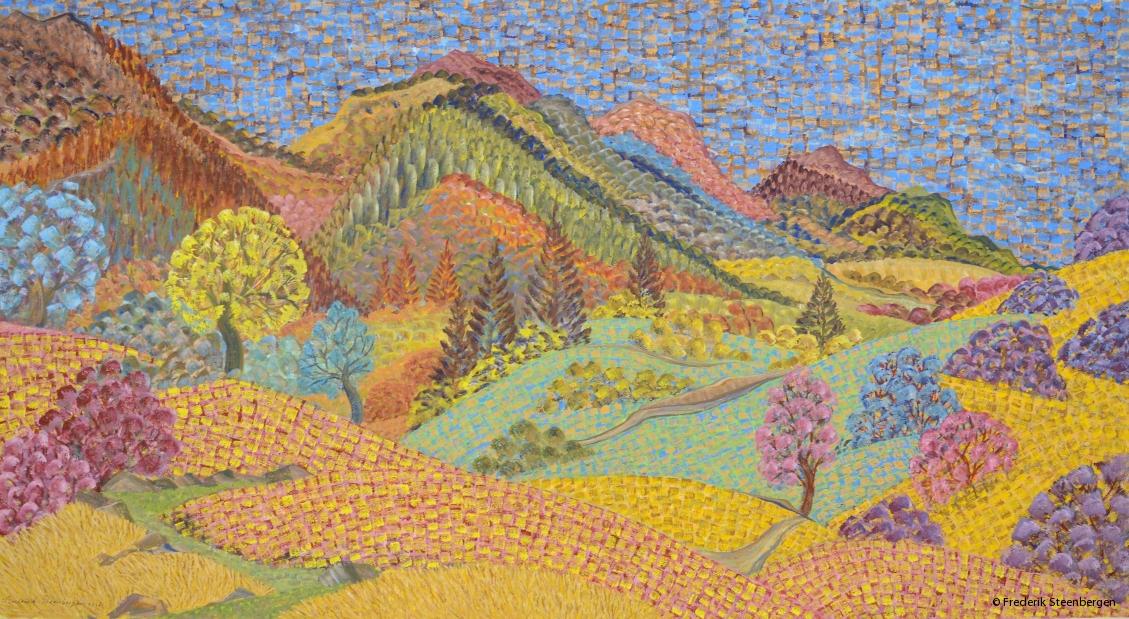""""""" Nature around Vakhani """"    100x54 cm  *  tempera on paper -  2016"""