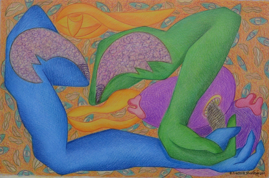 "From the series ( "" eternal circle "" ) 62x42cm -  colour pencil  on paper - 2014"