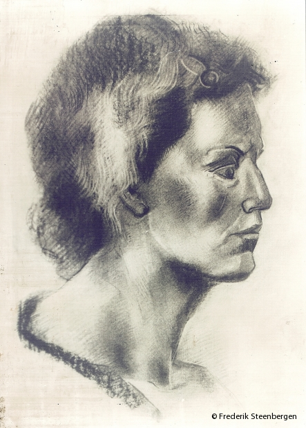 untitled     62x54cm  charcoal on paper -  2008
