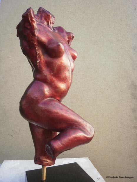 """Red-red women""  37cm Tall  *   bronze - 2008"