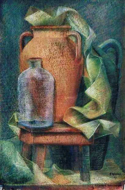 """ Georgian wine vessel""   52x41cm soft-pastel  on carton  -  2008"