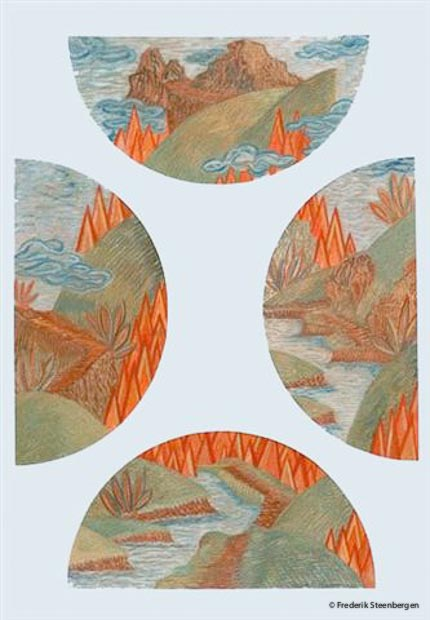 """""""The four pieces""""   78x52cm gouache on paper -  2010"""