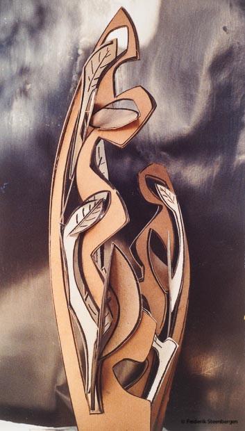 Untitled  61cm high     carton, chalk (paper flower)  -  2007