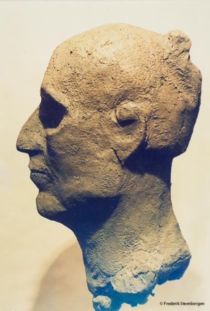 """"""" Georgian  woman """"    clay - 2004"""