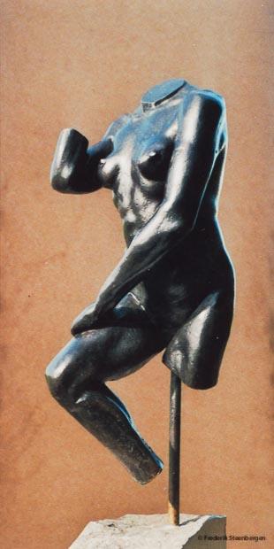 """ Kneefall ""  36cm Tall  *    bronze - 2007  (unicum)"
