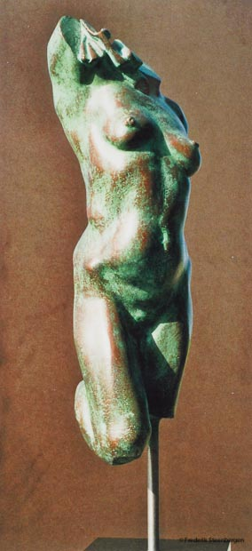 """ Green torso ""  34cm Tall  *    bronze - 2006 / 07  ( unicum)"