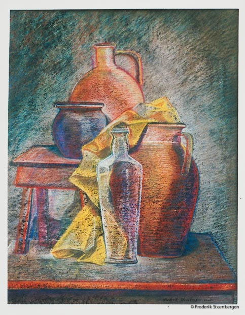 """ Georgian wine vessel ""    52x41cm soft-pastel  on carton  -  2008"