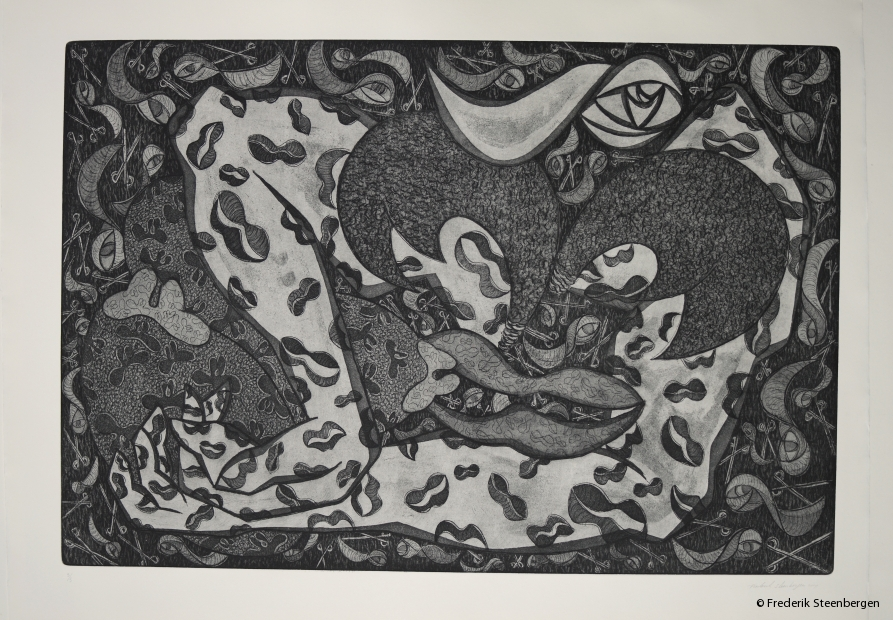 (1/5)                 From this series:   68.5x44.5 cm  *   drypoint, line etch, aquatint -   2015