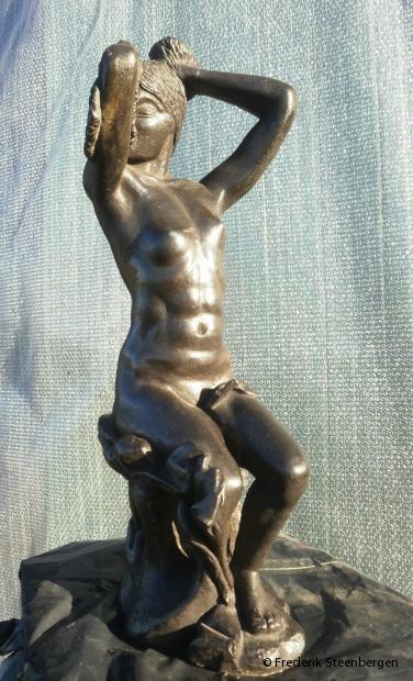 """"""" ნათელი """" (light)   51 cm Tall  *   bronze - 2010  (unicum)"""