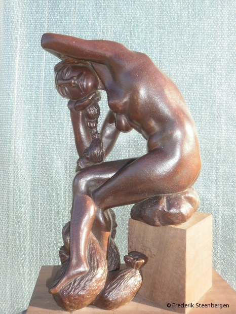 """"""" time growth as hair for a lifetime """"   43cm Tall  *  bronze - 2011"""