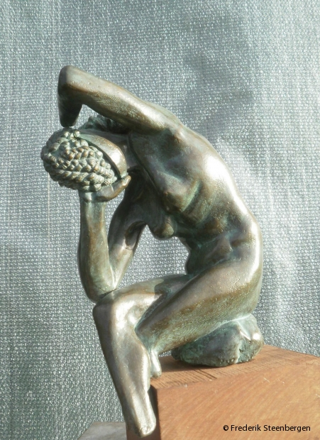 """ Hairhead ""   34cm Tall  *    bronze - 2011"